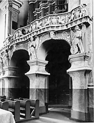 Šiluvos Švč. Mergelės Marijos Gimimo Bazilikos (Raseinių r.) interjero fragmentas