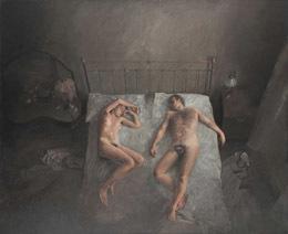 Γυμνό ξαπλωμένο ζευγάρι