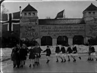 Kunstløpoppvisning på Frogner stadion i 1928