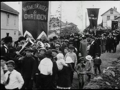 1. mai 1917 ved Tofte og Sagene