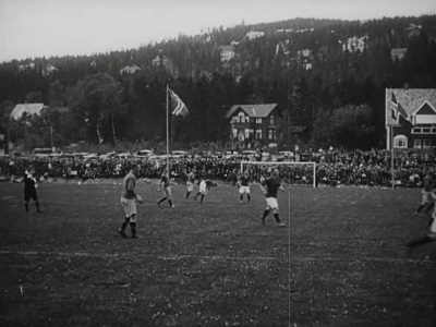 Fotballkamp på Græsbanen 1918