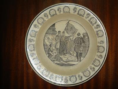 LES GRECS RECEVANT LA BENEDICTION A MISSOLONGHI