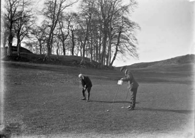 Two men playing golf, Deer Park, Co. Louth