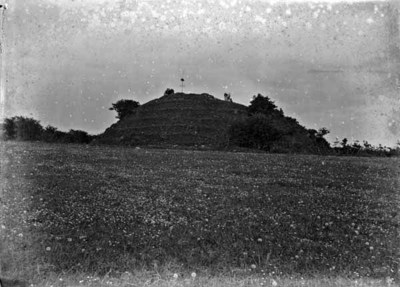 View of grassy mound and environs, Faughart, Dundalk, Co. Louth