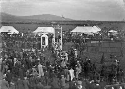Spectators at racecourse, Ireland