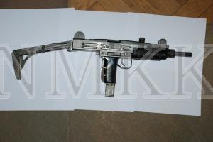 Mašīnpistole; ''Uzi'', ieroča numurs 8448425 kalibrs 9 mm; munīcija 9 x 19 mm (Parabellum);