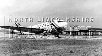 A DC3 of Air Atlantique' at Kirmington Airport, early 1970's
