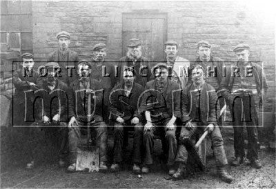 Blast Furnace Labourers, North Lioncoln Ironworks,c.1900