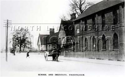 Frodingham School and Frodingham Church Institute from the east, c.1905-10