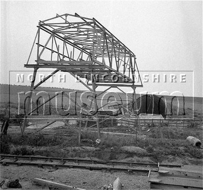 Santon Mining Company record photograph, close-up of the centre span of the new bridge with the North Adit Portal in the background, 30 June 1957