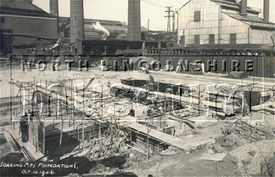 Record photograph of the Section Mill reconstruction at Appleby-Frodingham Steelworks, Scunthorpe, between 1946 and 1949