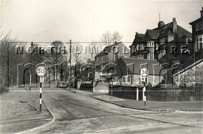 Sherwood Vale, Scunthorpe, looking north from Doncaster Road, c.1960's