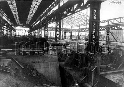 Record photograph showing the extensive re-development of Redbourn Steelworks between 1916 and 1920
