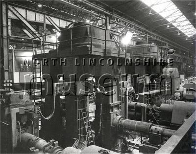 Record photograph of rebuilding work at Redbourn Steelworks, Scunthorpe, on 26 April 1962