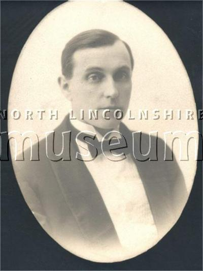 Early Scunthorpe Operatic Society photograph of Mr S. Colley, Chairman of the Committee