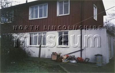 Record photograph of the rear of a B.I.S.F. 'Steelhouse' in Scunthorpe, taken before 1996