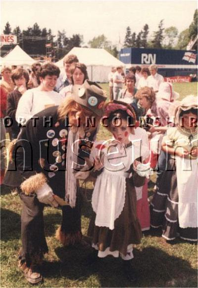 Worzel Gummidge at Family Weekend, Quibell Park, Scunthorpe, in July 1987