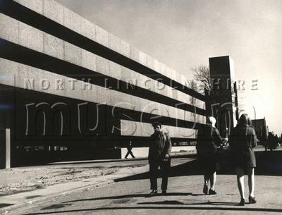 New multi-storey car park, Carlton Street, Scunthorpe, c.late 1960's
