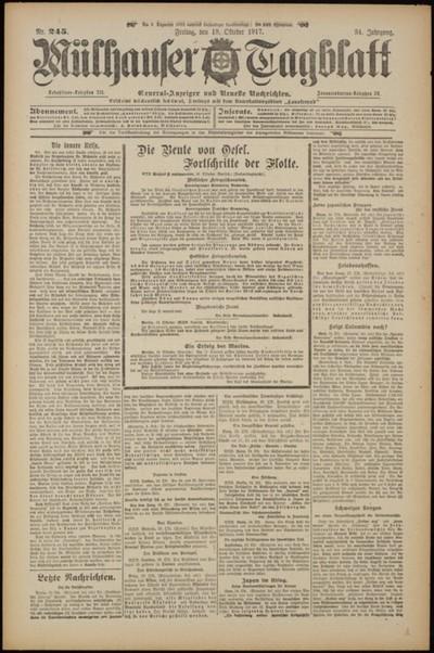 Mülhauser Tagblatt : Organ für republikanische und demokratische Interessen