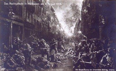 Das Nachtgefecht in Mülhausen am 9. August 1914
