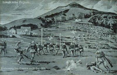 Kämpfe in den Vogesen : Erstürùi,g des Donon am 21. August 1914