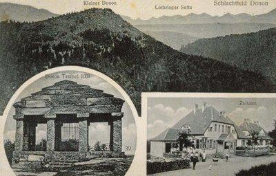 Kleiner Donon, Lothringer Seite, Schlachtfeld Donon, Donon Tempel 1008, Zollamt