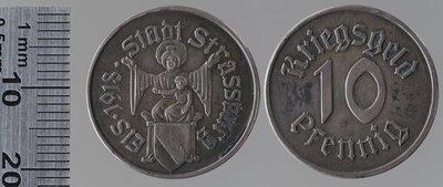 Strasbourg 10 pfennigs : Monnaies de guerre / Mayer & Wilhelm, Stuttgart