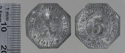 Sélestat 1917 5 pfennigs : Monnaies de guerre / Lauer, L. Chr., Nuremberg (Allemagne)