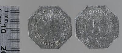 Sélestat 5 pfennigs : Monnaies de guerre / Lauer, L. Chr., Nuremberg (Allemagne)
