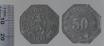 Sélestat 50 pfennigs : Monnaies de guerre / Lauer,L. Chr., Nuremberg (Allemagne)