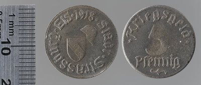 Strasbourg 5 pfennigs : Monnaies de guerre / Mayer & Wilhelm, Stuttgart