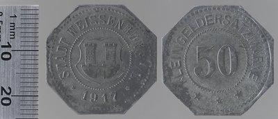 Weissenburg 10 pfennigs : Monnaies de guerre / Lauer, L. Chr., Nuremberg (Allemagne)
