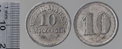 Brockhagen (Westphalie) 10 pfennigs : Monnaies de guerre