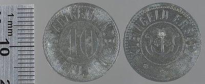 Kehl (Rh.) Monnaies de guerre 10 pfennigs (1919?) : Monnaies de guerre / Mayer, B. H., Pforzheim