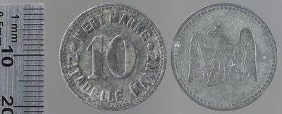Mainz 10 pfennigs cantine militaire : Monnaies de guerre / Jörgum & Trefs, Francfort/Main