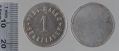 Sennelager (Allemagne) camp de prisonniers 1 pfennig : Monnaies de guerre