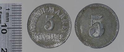 Sennelager (Allemagne) camp de prisonniers 5 pfennigs : Monnaies de guerre