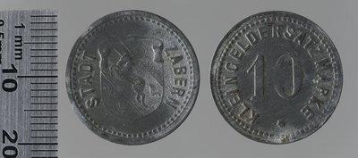 Zabern, Kleingeldersatzmarke 10 pfennigs : Monnaies de guerre / Jörgum & Trefz, Francfort/Main