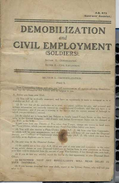 Photographs and documents relating to Pte Wm Mcmillan (2)