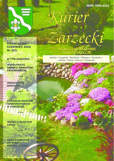 Kurier Zarzecki : pismo samorządowe gminy Zarzecze : Kisielów, Łapajówka, Maćkówka [...]. 2008, nr 2