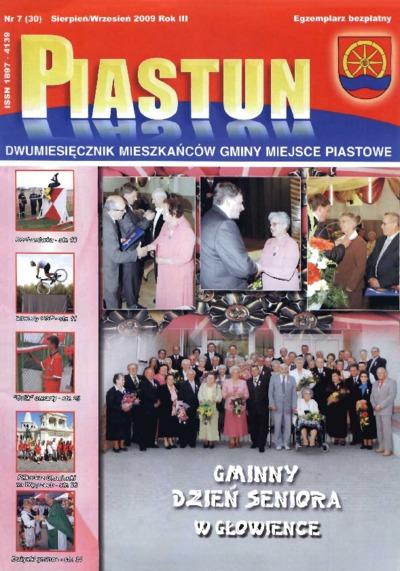 Piastun : dwumiesięcznik Mieszkańców Gminy Miejsce Piastowe. 2009, R. 3, nr 7 (sierpień/wrzesień)