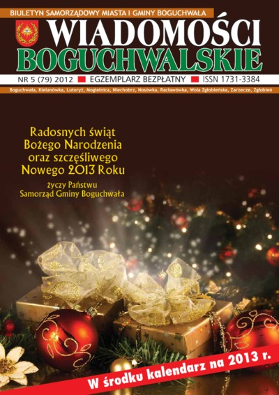 Wiadomości Boguchwalskie : biuletyn samorządowy miasta i gminy Boguchwała : Boguchwała, Kielanówka, Lutoryż [...]. 2012, nr 5