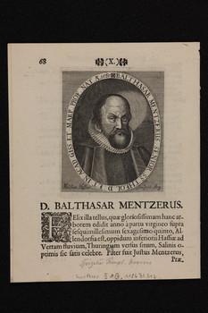 Bildnis des Balthasar Mentzerus