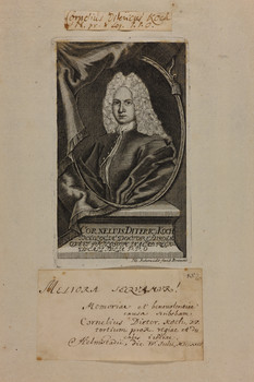 Bildnis des Cornelius Ditericus Koch
