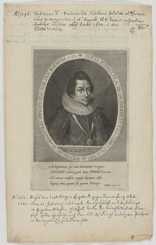 Bildnis des Fridericvs V., Kurfürst von der Pfalz