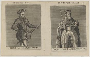 Bildnis des Philippvs I., König von Spanien und des Fridericvs II., Kurfürst von der Pfalz