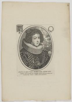 Bildnis der Elisabetha Borbonia, Königin von Spanien