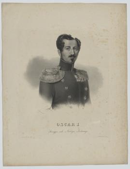 Bildnis des Oskar I, König von Schweden