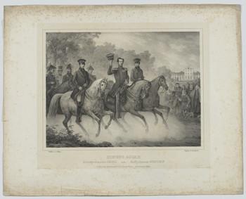 Gruppenbildnis des Königs Oskar I. und der Prinzen Carl und Gustaf von Schweden