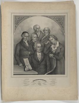 Gruppenbildnis des Johann Wolfgang von Goethe, Friedrich von Schiller, Christoph Martin Wieland, Friedrich Gottlieb Klopstock, Gotthold Ephraim Lessing und des Johann Gottfried Herder
